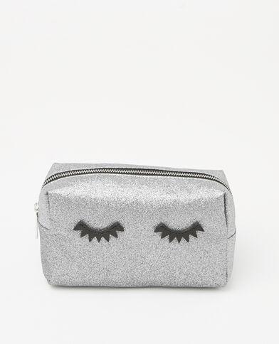 Trousse make up glitter eyes gris argenté