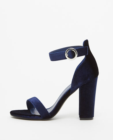 Escarpins effet velours bleu