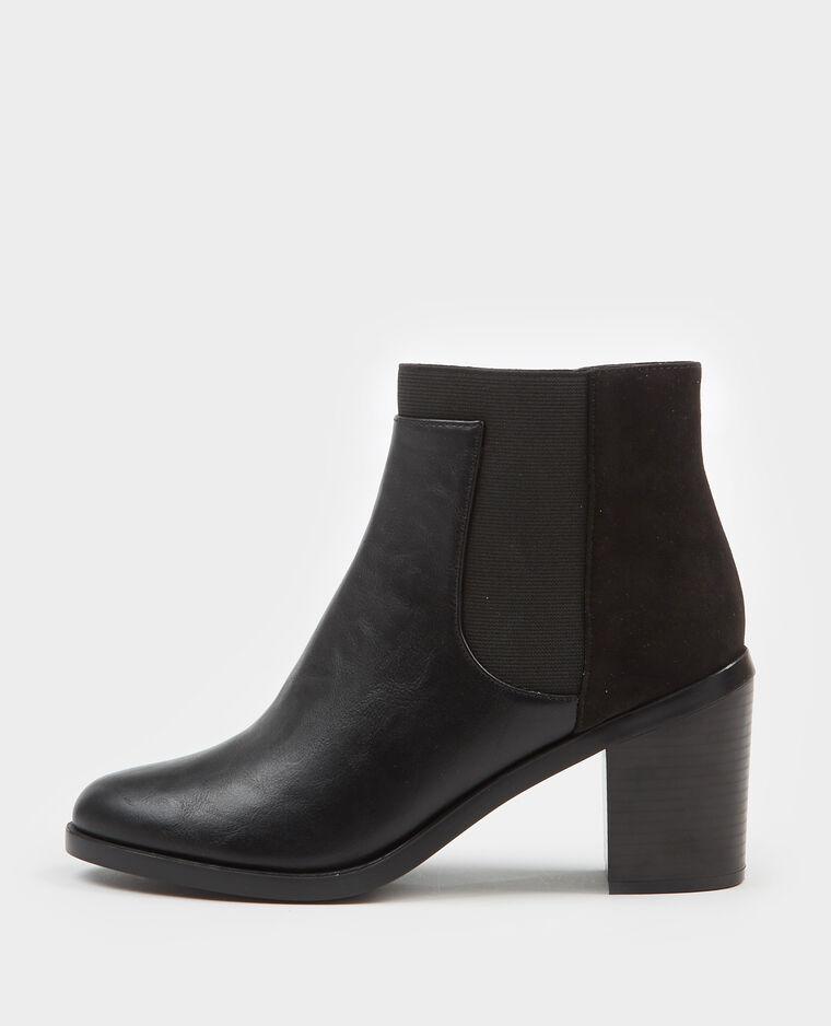 Boots bimatière noir