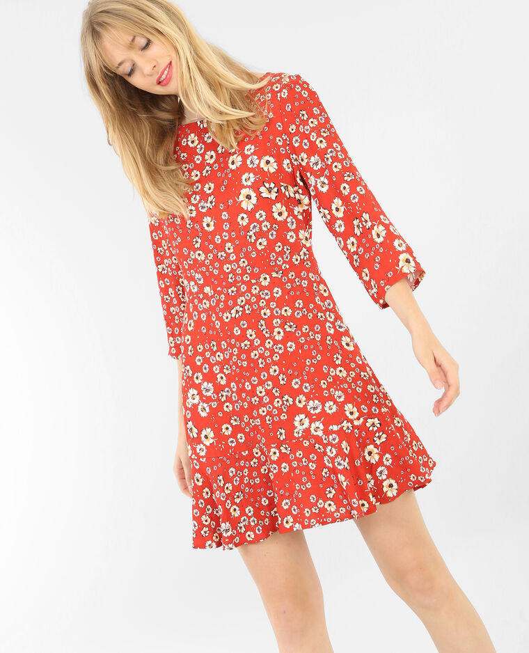 Robe fleurie rouge