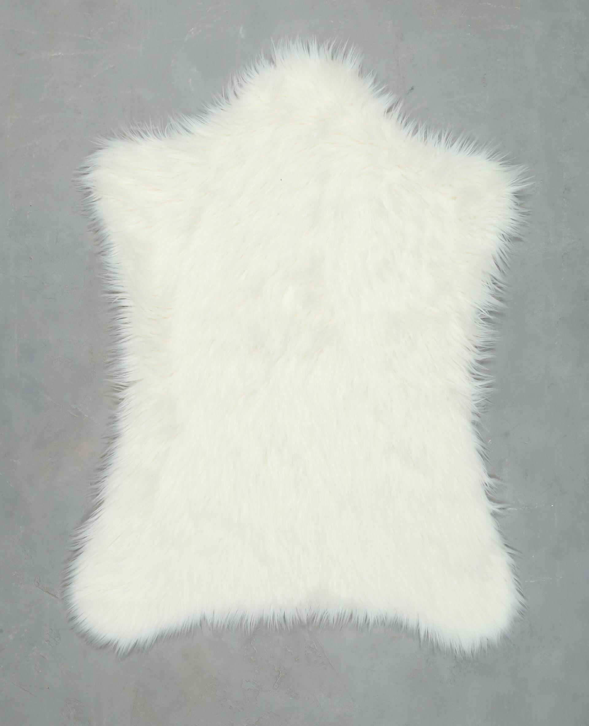 Tapis fausse fourrure - Tapis fausse fourrure blanc ...