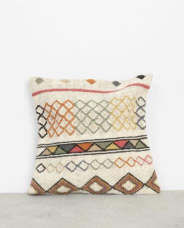 housse de coussin toile de jute esprit kilim beige 904016714g0a pimkie. Black Bedroom Furniture Sets. Home Design Ideas