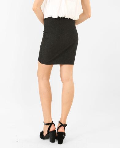 Mini jupe en lurex noir