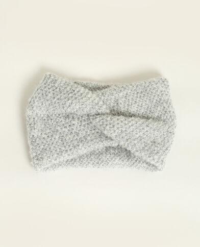 Headband croisé gris