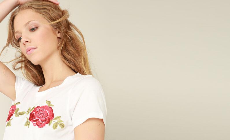 T-shirt brodé blanc