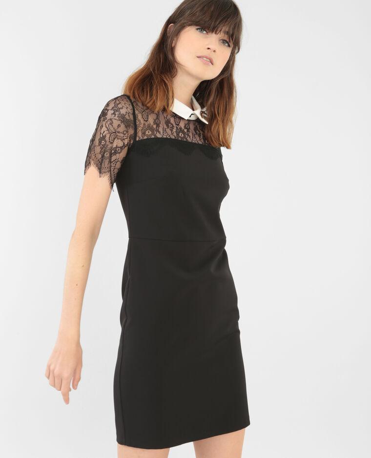 robe dentelle col blanc noir 780530899f48 pimkie. Black Bedroom Furniture Sets. Home Design Ideas