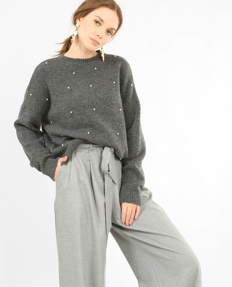Pull A Part Mail: Pull à Perles Gris - 403985830J28