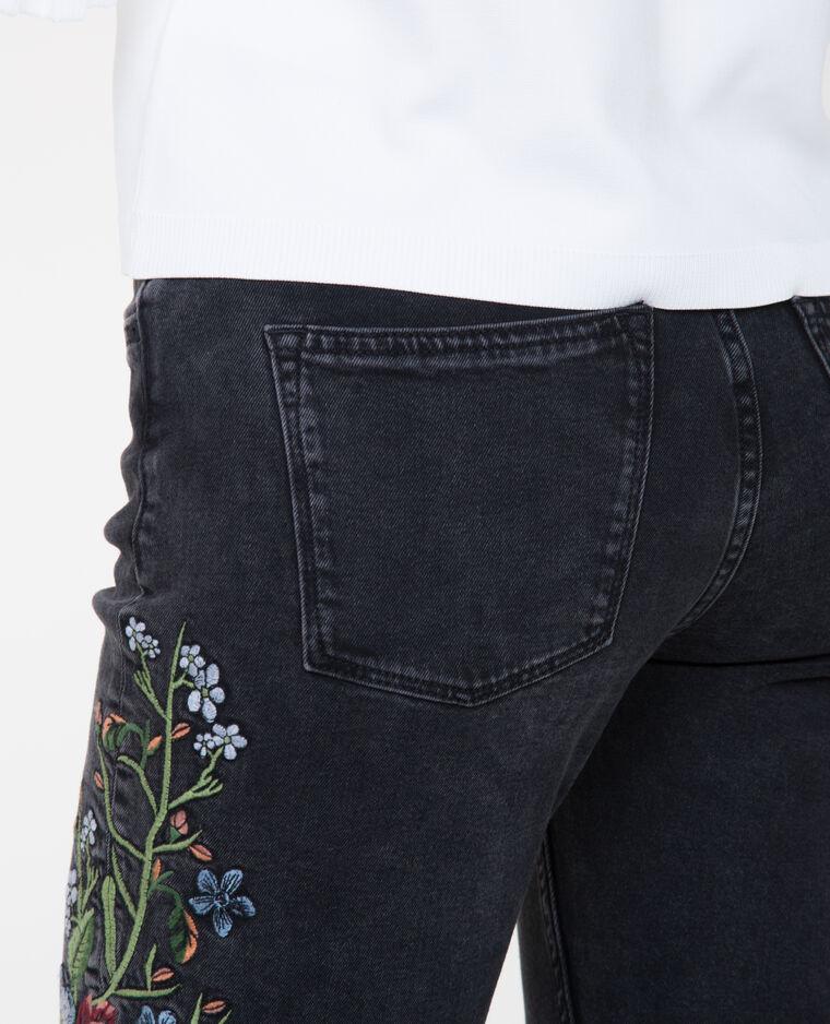 Jean skinny brodé noir