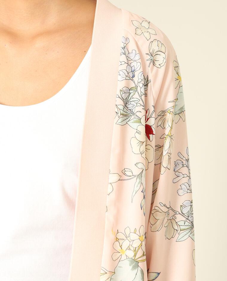 Bomber fleuri rose pâle