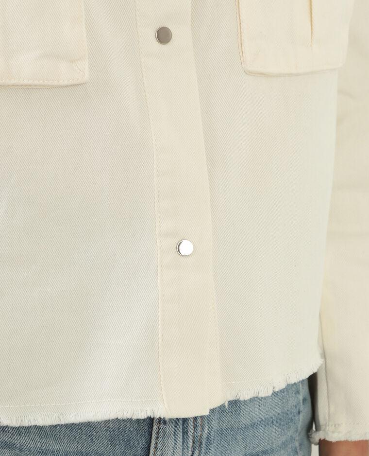 Veste denim blanche blanc cassé