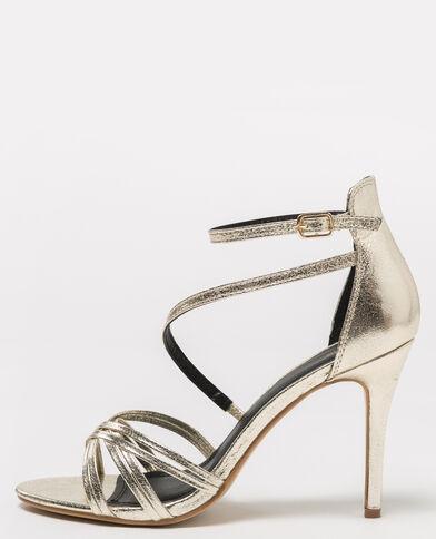 Sandales dorées doré