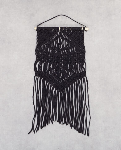 Suspension macramé noir