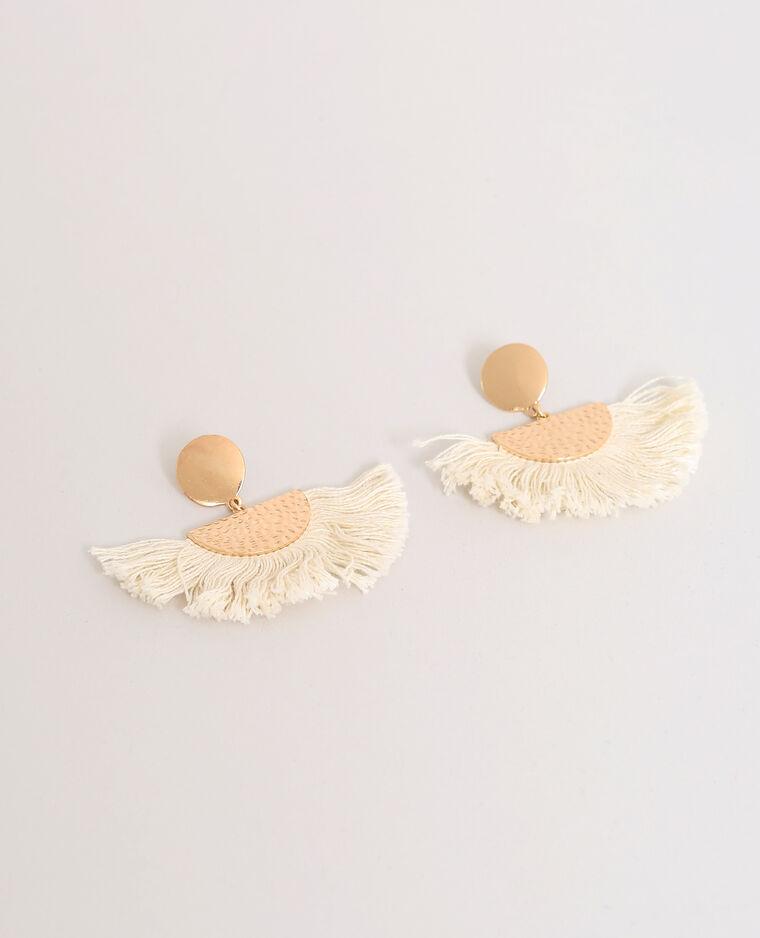 Boucles d'oreilles à pompons doré