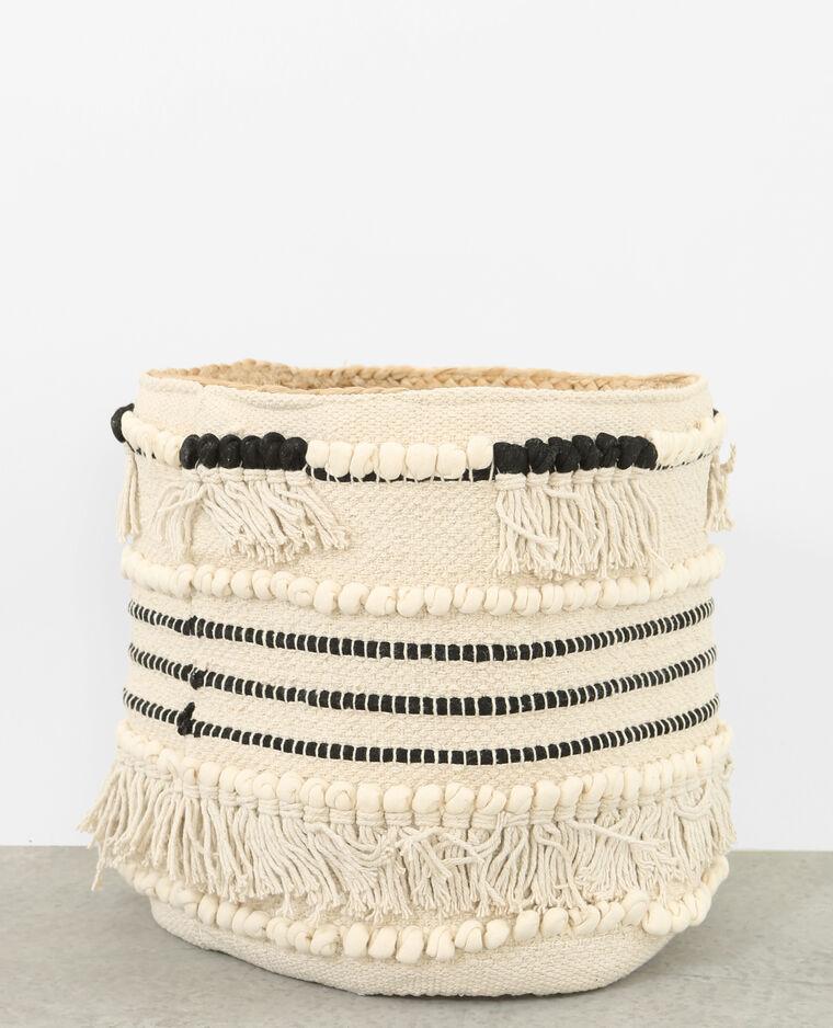 cache pot franges blanc 20 907359901a0e pimkie. Black Bedroom Furniture Sets. Home Design Ideas