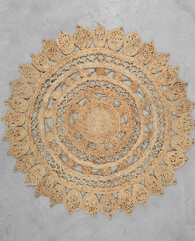 tapis jute mandala beige 902869742a0e pimkie. Black Bedroom Furniture Sets. Home Design Ideas