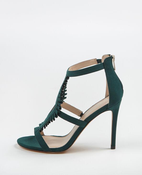Sandales à talons hauts vert sapin