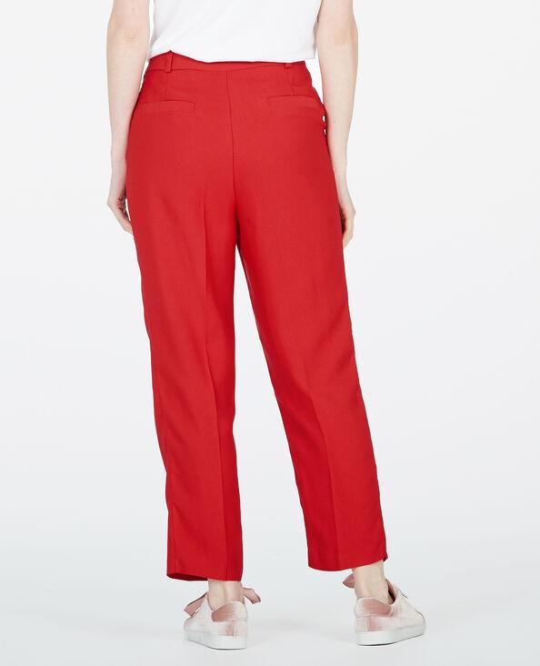 Pantalon city rouge