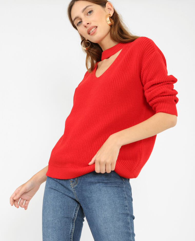 pull col choker rouge 403799342a03 pimkie