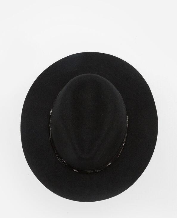 Fedora brodé noir