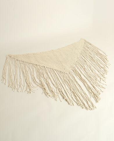 Tête de lit en macramé blanc