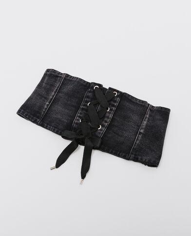 Ceinture corset en jean noir