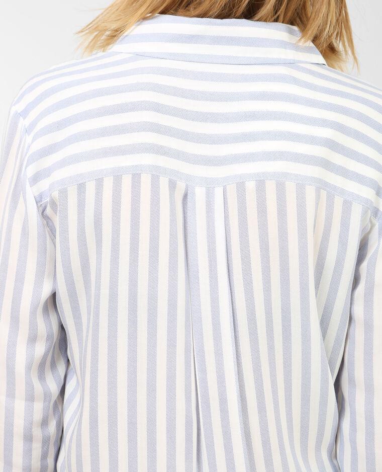 Chemise rayée Bleu clair