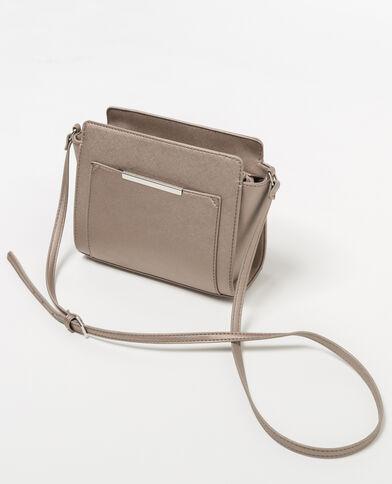 Petit sac trapèze gris argenté