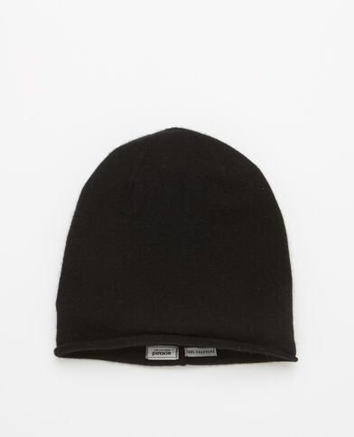 Bonnet 100% cachemire noir