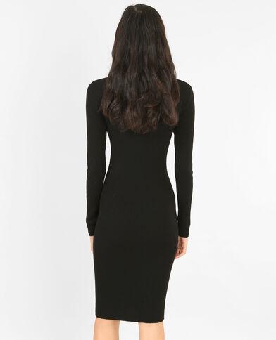 Robe pull moulante noir