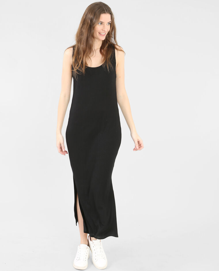 robe longue c tel e noir 781191899a08 pimkie. Black Bedroom Furniture Sets. Home Design Ideas