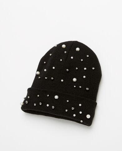 Bonnet à perles noir