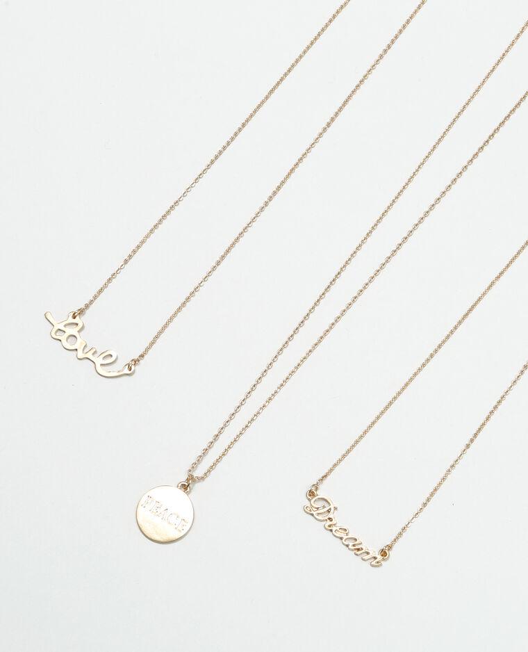 Lot de colliers avec pendentifs doré