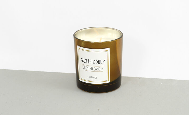 "Bougie parfumée ""Gold honey"" doré"