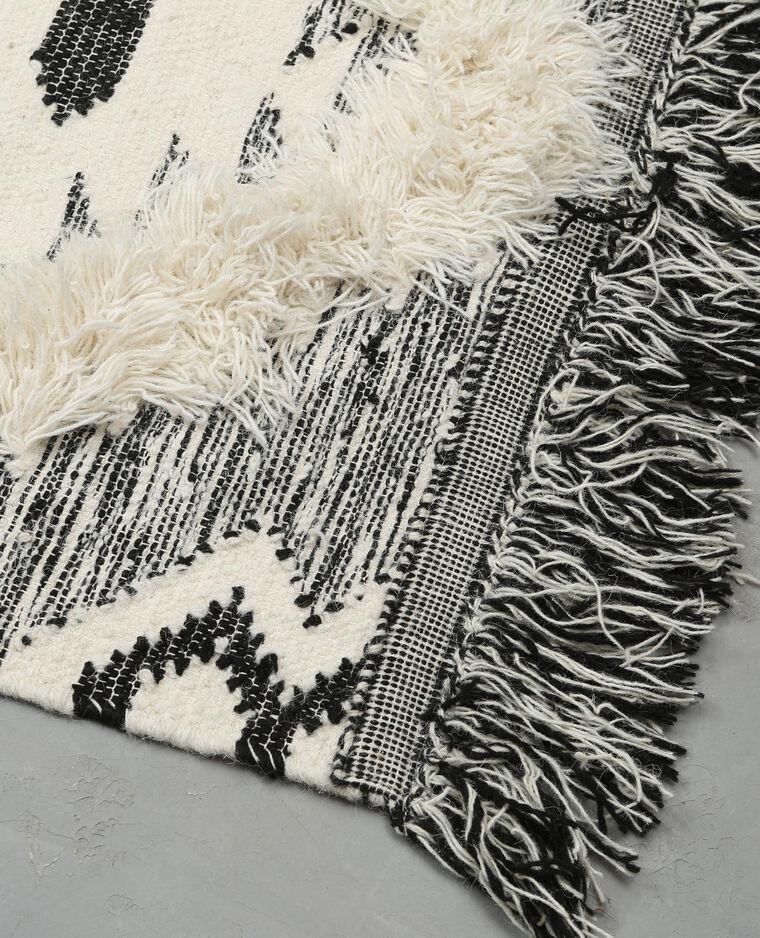 Tapis coton tissé berbère noir