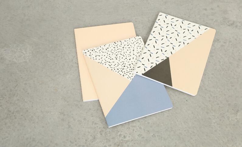 Lot de 3 notebooks rose
