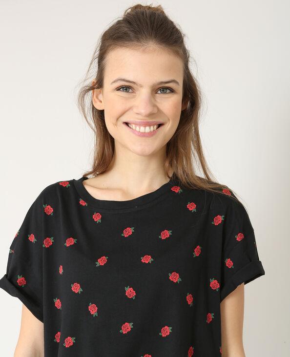 T-shirt imprimé noir