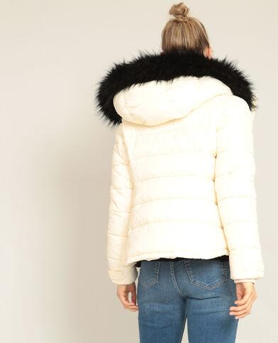 Doudoune à capuche beige