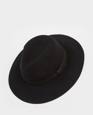 Chapeau fedora noir