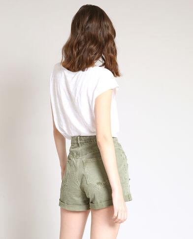 T-shirt en lin blanc