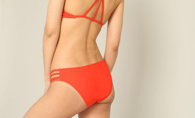 Bas de bikini uni rouge