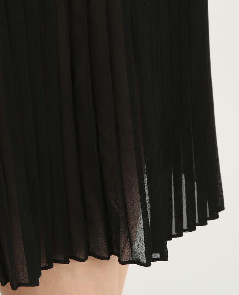 Jupe midi plissée noir
