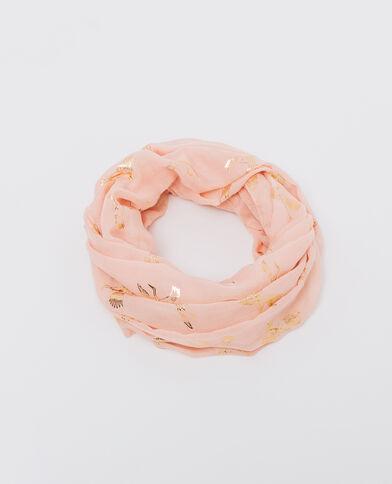 Foulard col imprimé rose