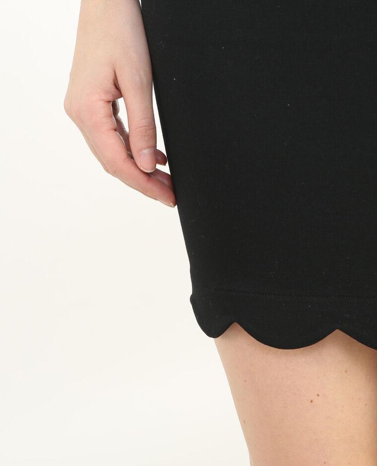 Mini jupe découpe bas noir