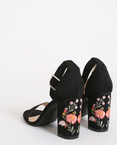 Sandales brodées noir