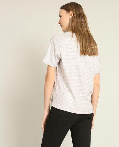 T-shirt texturé bronze