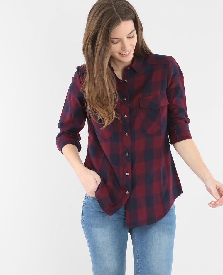 chemise carreaux rouge fonc 561241326b06 pimkie. Black Bedroom Furniture Sets. Home Design Ideas