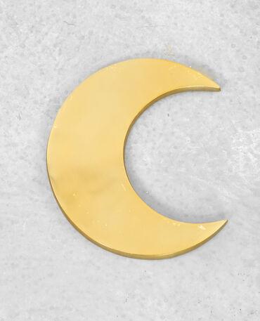 Décoration murale lune doré
