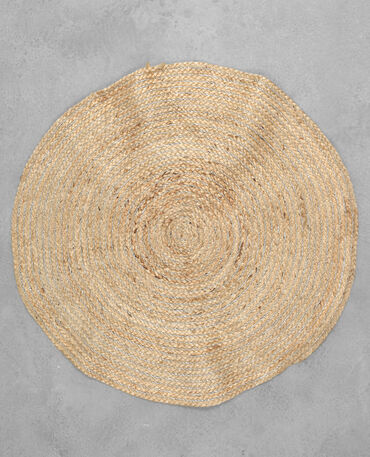 Tapis rond beige