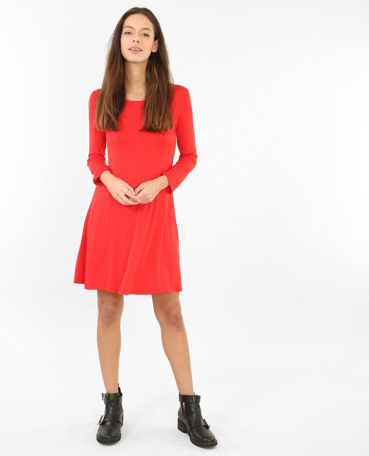 Robe trapèze rouge