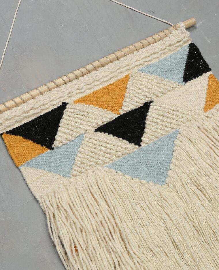 Tapisserie murale en laine écru